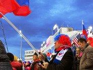 Болеем за Россию на олимпиаде в Сочи