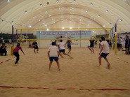 Волейбол на песке в зале