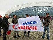 Флаги Canon и Марвел