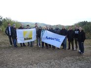 Фото с флагами партнеров