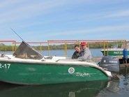 Рыбалка на зеленом катере