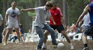 Футбол в лесу