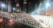 Трибуны на гонках Формулы-1 в Сингапуре