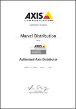 Сертификат авторизованного дистрибьютора Axis