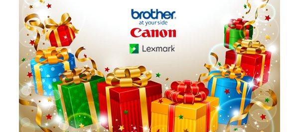 Новогодняя мешанина с Brother, Canon, Lexmark